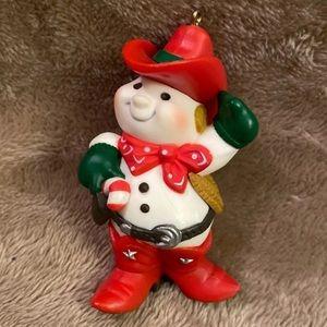 Hallmark Cowboy Snowman ornament